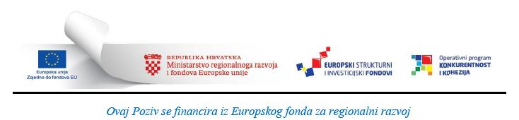 Projekt je financiran sredstvima iz Europskog fonda za regionalni razvoj